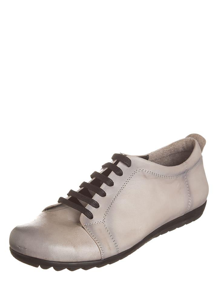 Andrea Conti Leder-Sneakers in Grau - 49% Rabatt-Outlet-Store pBlFhT