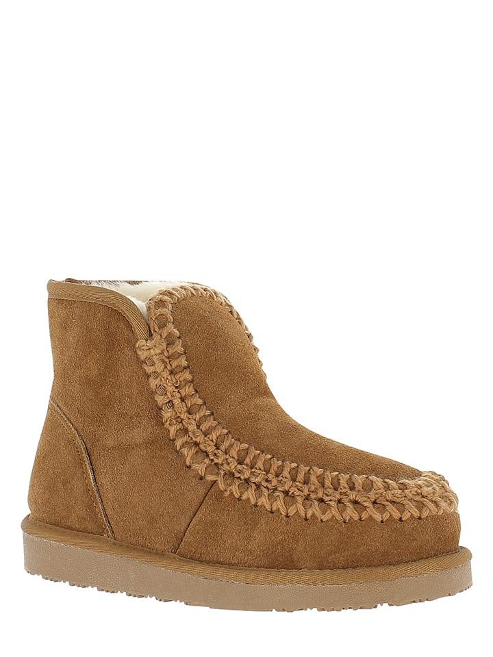 Minnetonka Leder-Mokassins-Boots in Hellbraun - 58% SUa2RAF1xa
