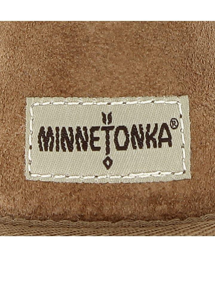 Minnetonka Leder-Winterstiefel in Hellbraun