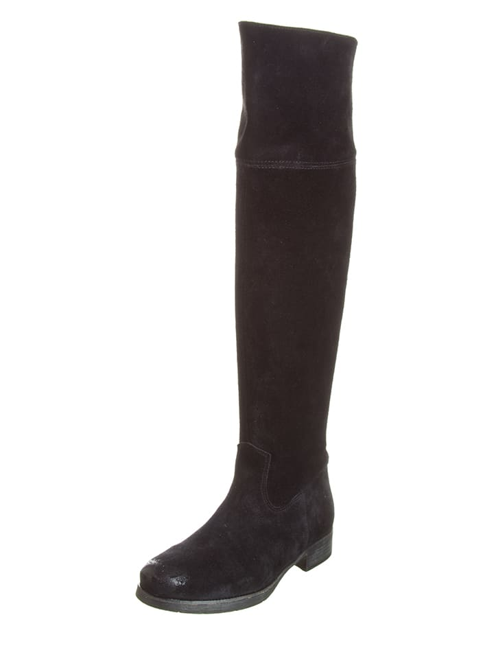 Lazamani Leder-Overknee-Stiefel in Beige - 32% Qsp9Q