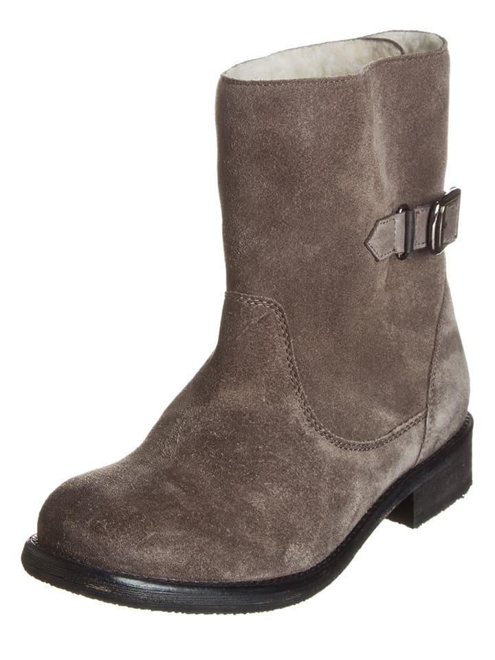 Lazamani Leder-Boots in Schwarz - 60%