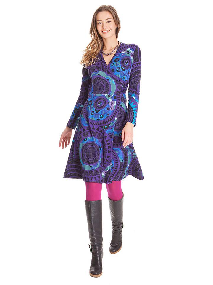 Aller Simplement Kleid in Lila/ Blau
