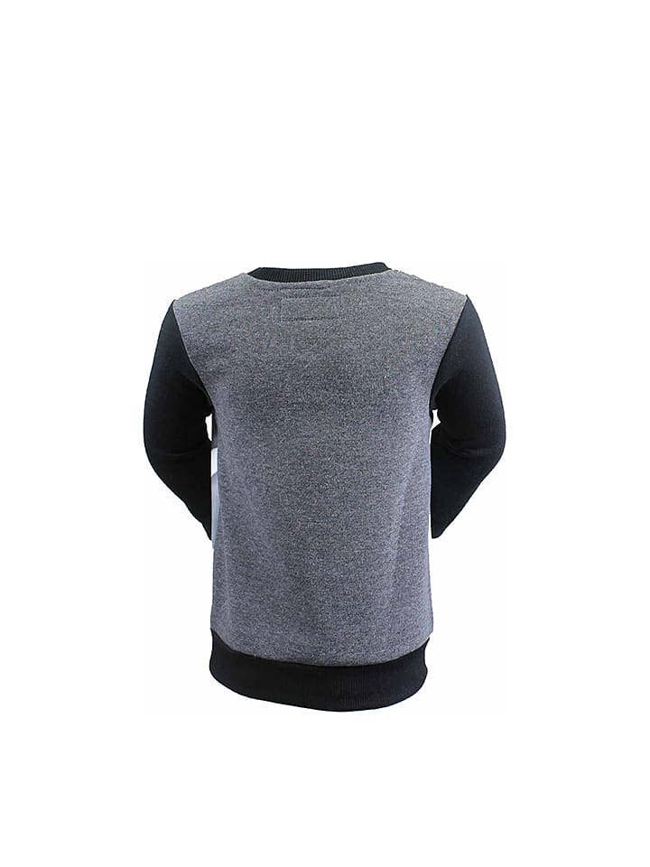 Lee Cooper Sweatshirt in Grau/ Schwarz