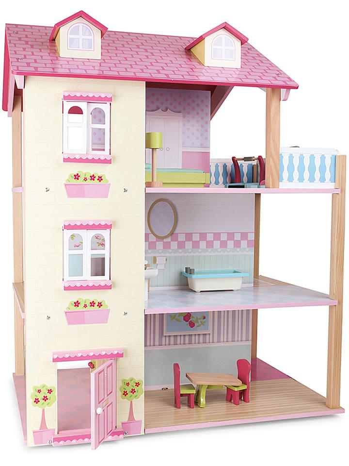 Legler poppenhuis met accessoires vanaf 3 jaar for Poppenhuis kind 2 jaar