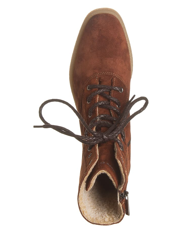 Marc OPolo Shoes Leder-Boots in Braun
