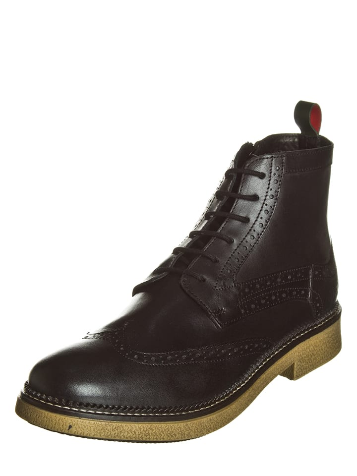 Kickers Leder-Boots Fortino in Schwarz