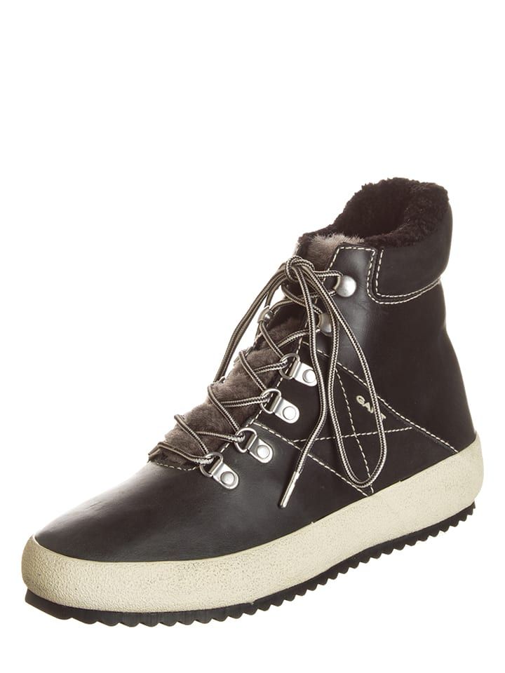 "GANT Footwear Leder-Boots ""Amy"" in Schwarz"