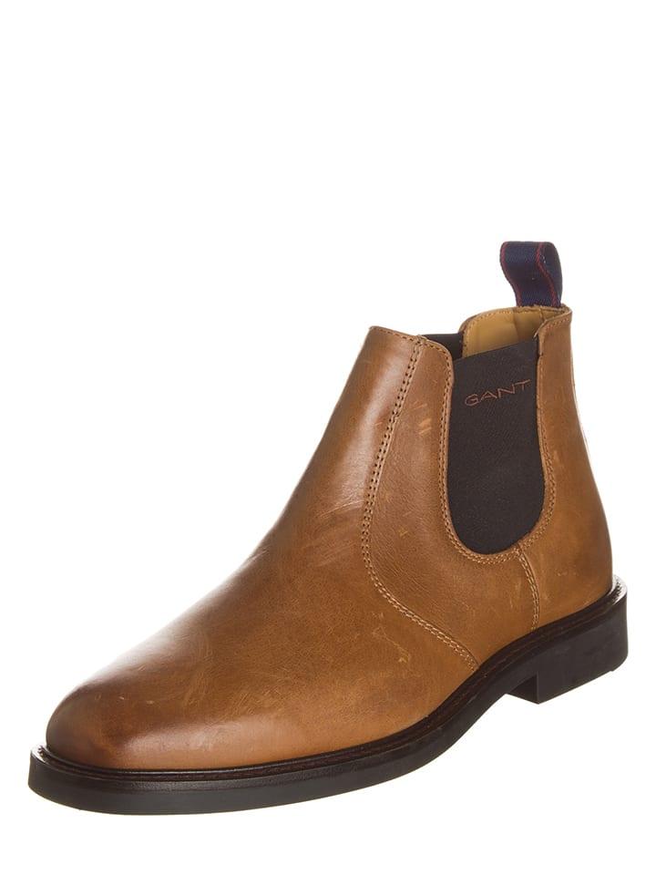 """GANT Footwear Leder-Chelsea-Boots """"Spencer"""" in Cognac"""