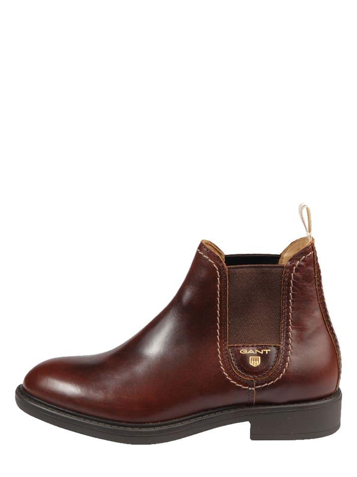 "GANT Footwear Leder-Chelsea Boots ""Lydia"" in Braun"