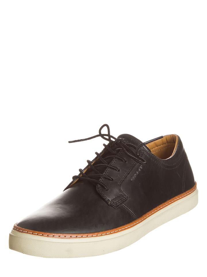 "GANT Footwear Leder-Sneakers ""Bari"" in Schwarz"
