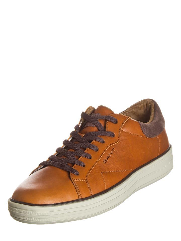 """GANT Footwear Leder-Sneakers """"Tyler"""" in Cognac"""