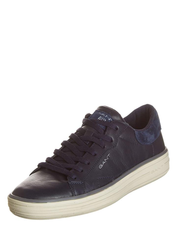 "GANT Footwear Leder-Sneakers ""Tyler"" in Dunkelblau"
