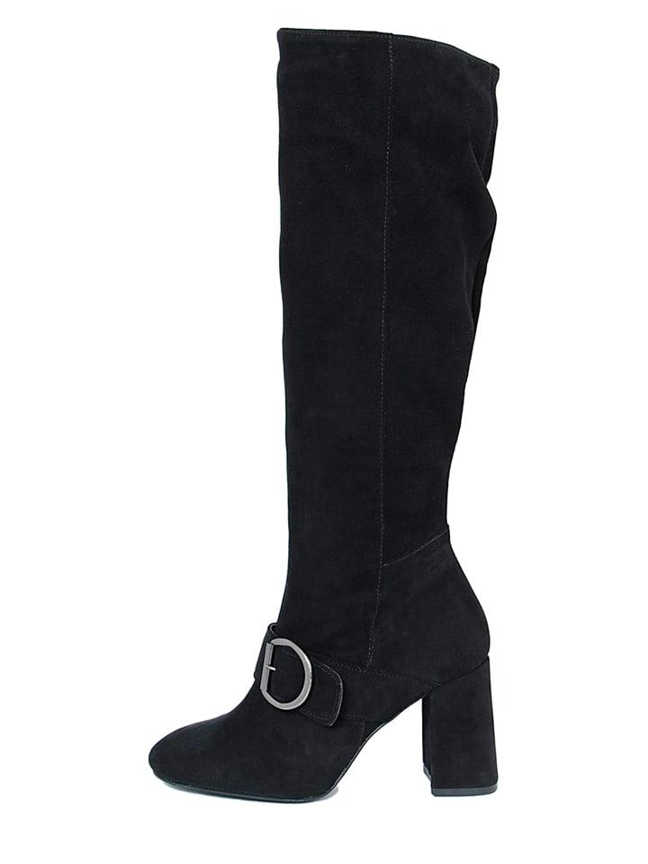 EYE Leder-Stiefel in Schwarz