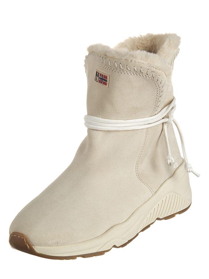 Napapijri Leder-Boots Doris in Creme