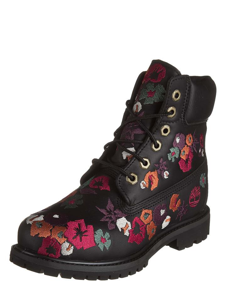 Terre de Marins Leder-Boots Milan in Schwarz - 59% dE8qBC