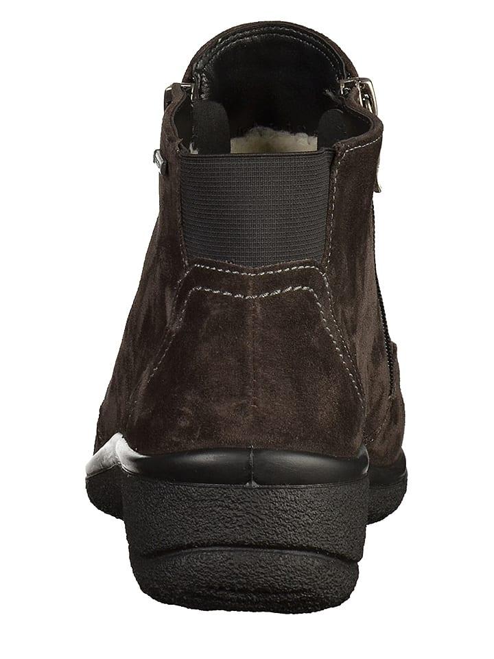 Ara Shoes Leder-Boots in Dunkelbraun