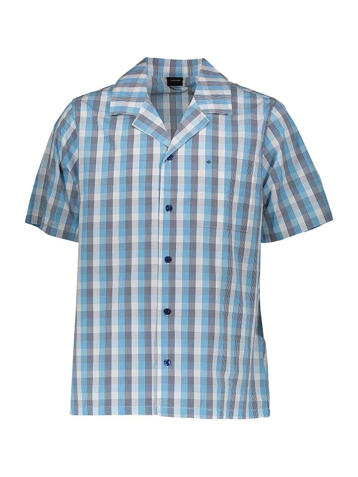 Seidensticker Pyjama in Hellblau/ Grau