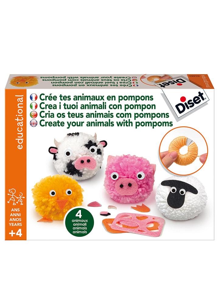 """Très Diset - Kit créatif """"Animaux en pompons"""" - à partir de 4 ans  BP66"""