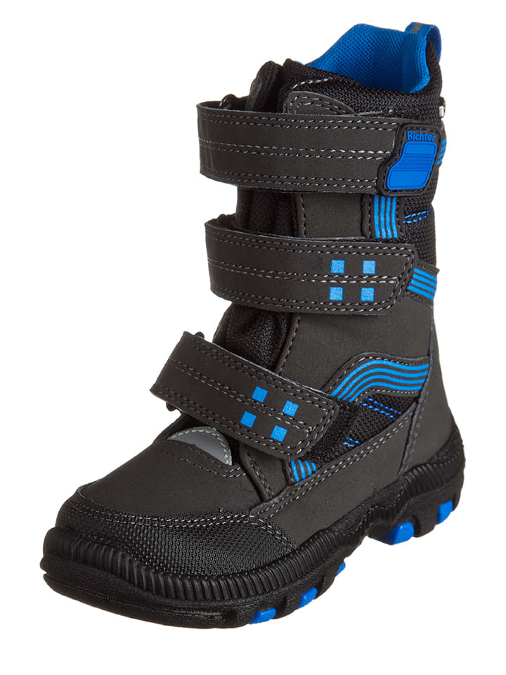 Richter Shoes Winterstiefel in Schwarz/ Blau