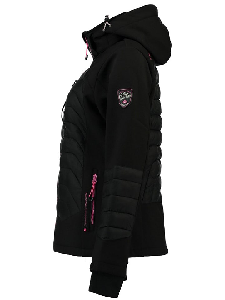 Canadian Peak Softshelljacke Tenas in Schwarz