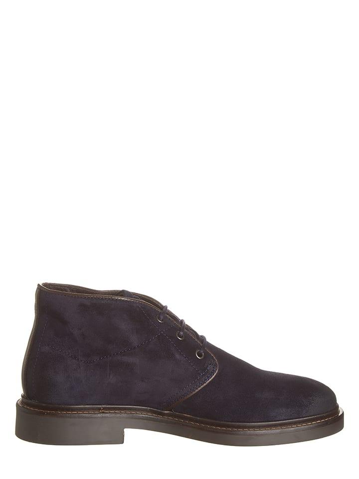 Marc OPolo Shoes Leder-Schnürschuhe in Dunkelblau