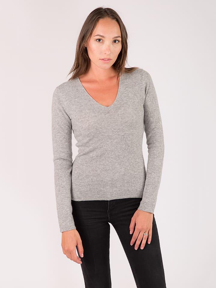 Just Cashmere Kaschmir-Pullover Jolan in Grau