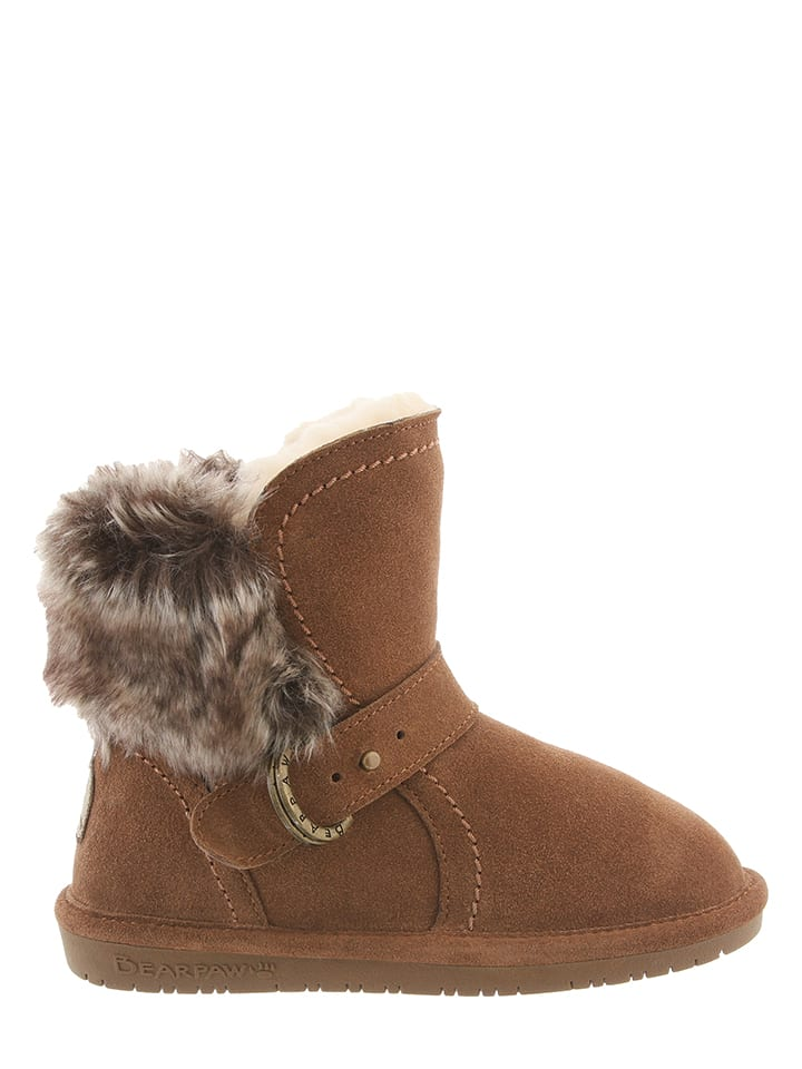 Bearpaw Leder-Boots Koko in Hellbraun
