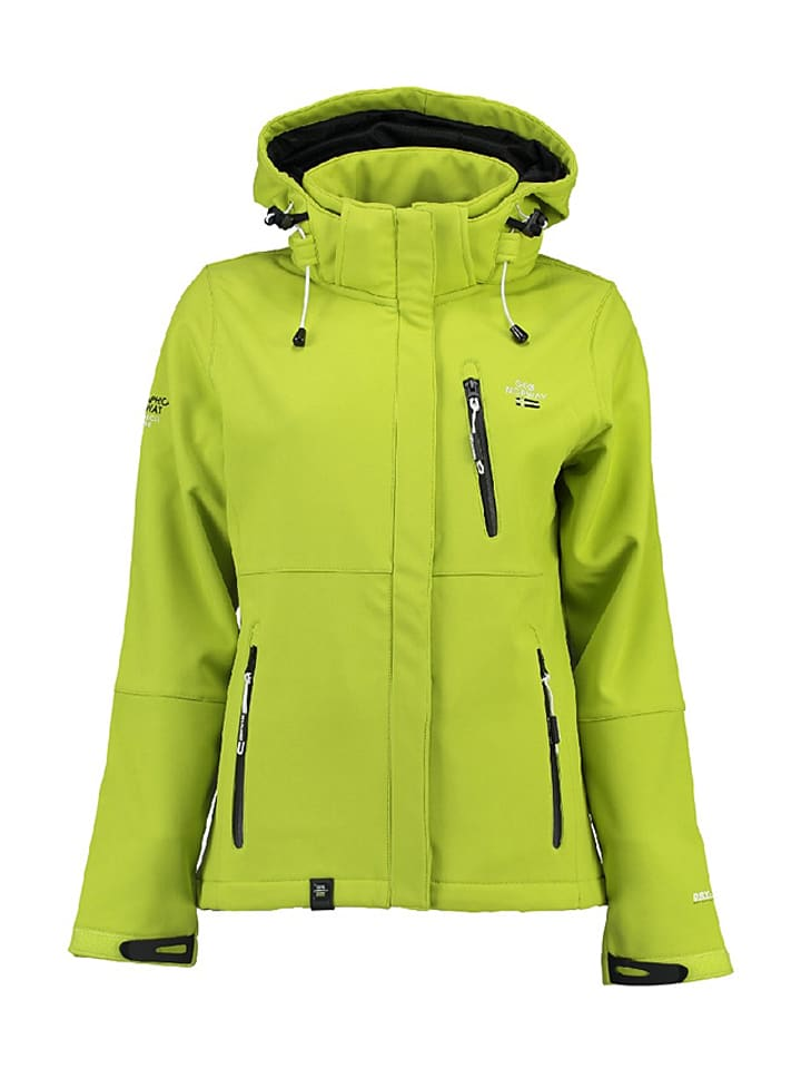Geographical Norway Softshelljacke Touna in Limette