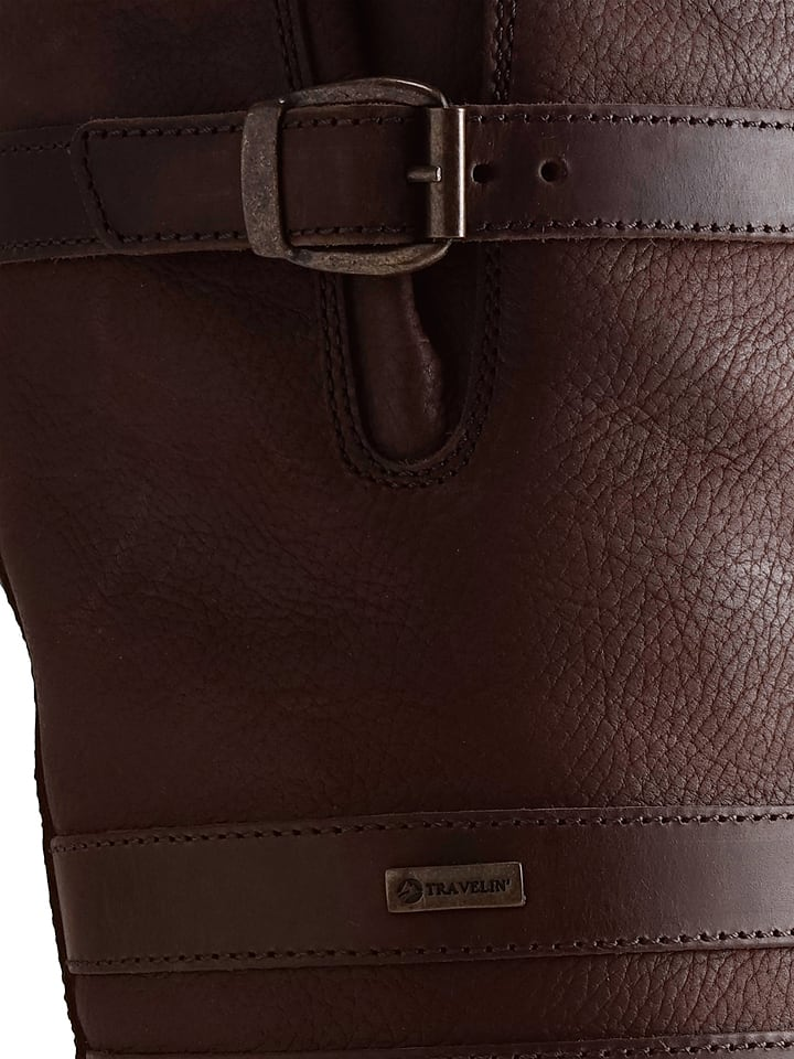 TRAVELIN Leder-Stiefel Dale in Braun