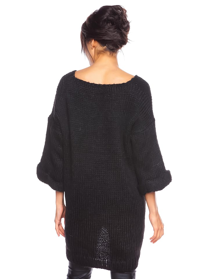 "Cosy Winter Pullover ""Melody"" in Schwarz"