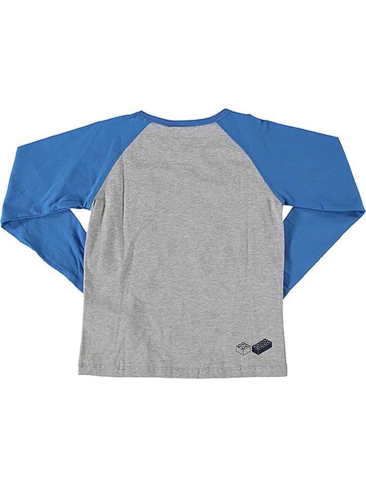 Legowear Longsleeve Teo in Grau/ Blau