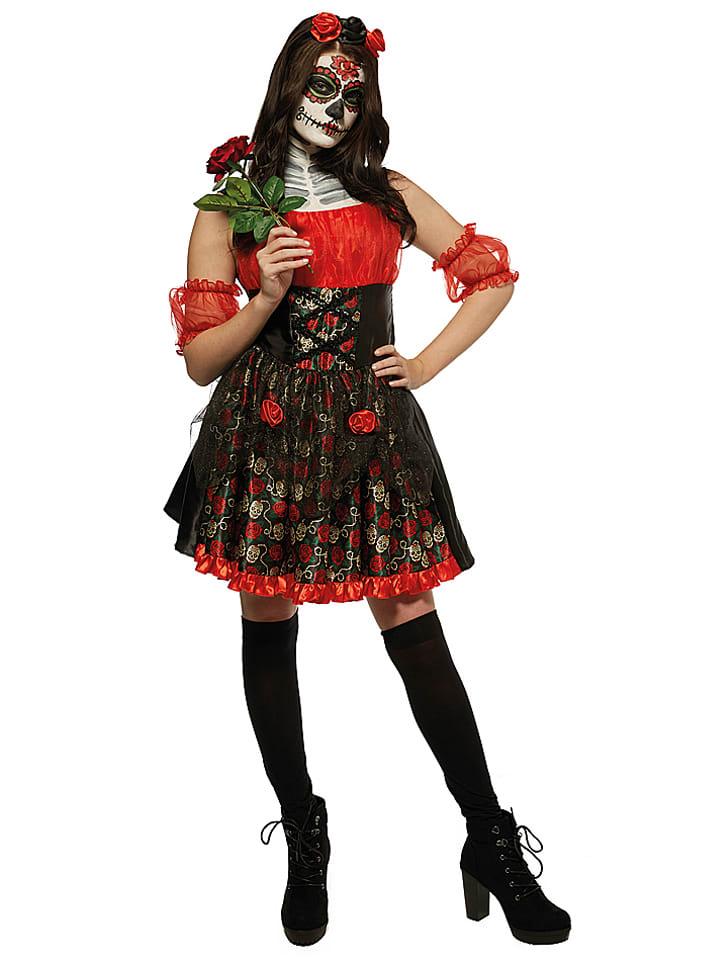 Rubie`s Kostümkleid Red Rose Adult in Rot/ Schwarz