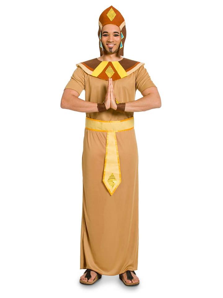 FOLAT 5tlg. Kostüm Ägypter in Hellbraun