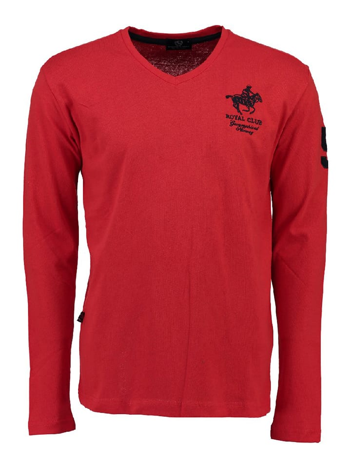 """Geographical Norway T-shirt manches longues """"Jampai"""" - rouge/bleu foncé"""