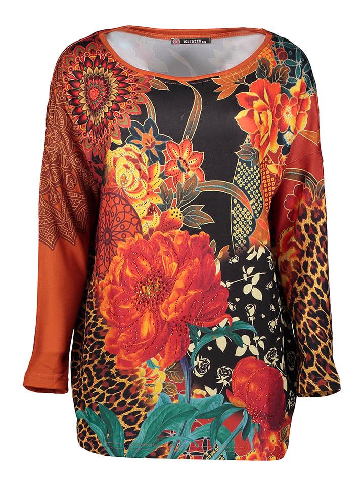 101 idées Shirt in Orange/ Bunt