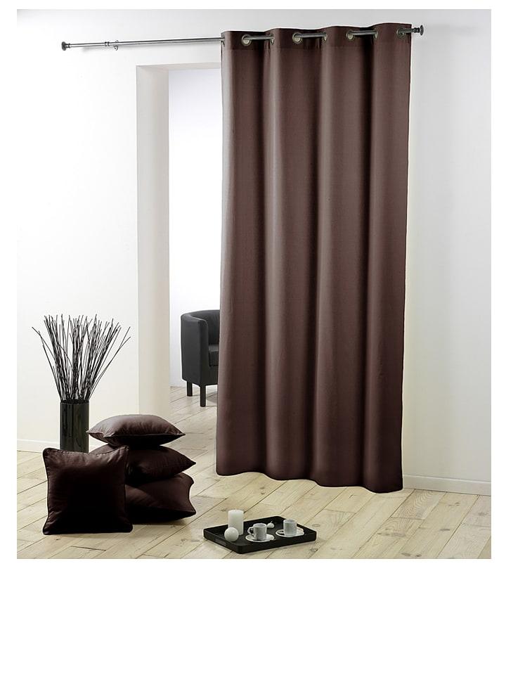 douceur d int rieur rideau essentiel marron outlet limango. Black Bedroom Furniture Sets. Home Design Ideas