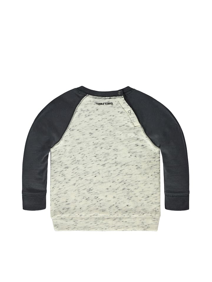 Tumble N Dry Sweatshirt Croix in Creme/ Dunkelblau