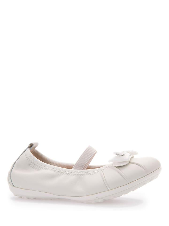Geox Leder-Ballerinas Piuma in Weiß - 61% xCYx87f39M