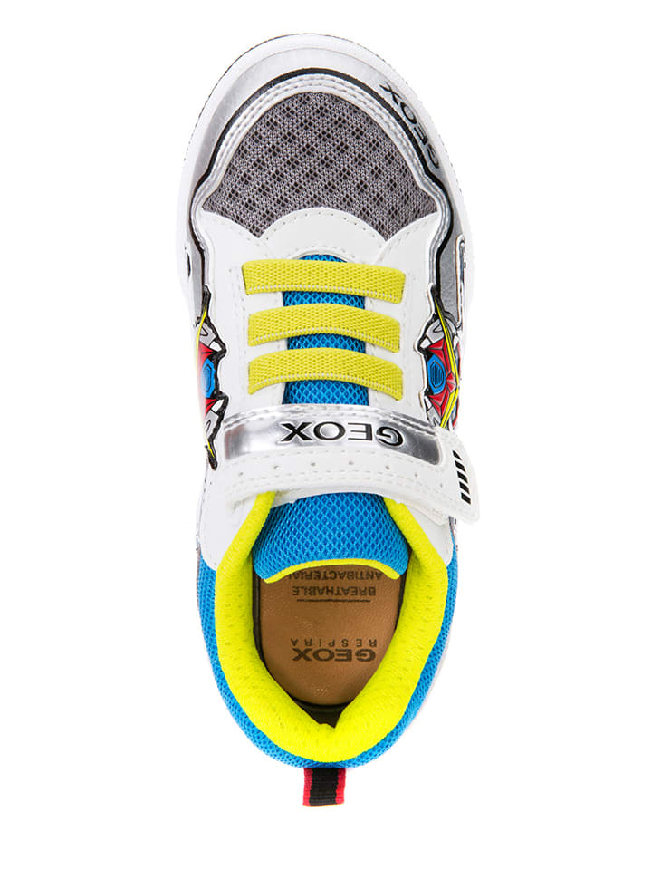 Geox Sneakers Gregg in Weiß/ Grau/ Gelb