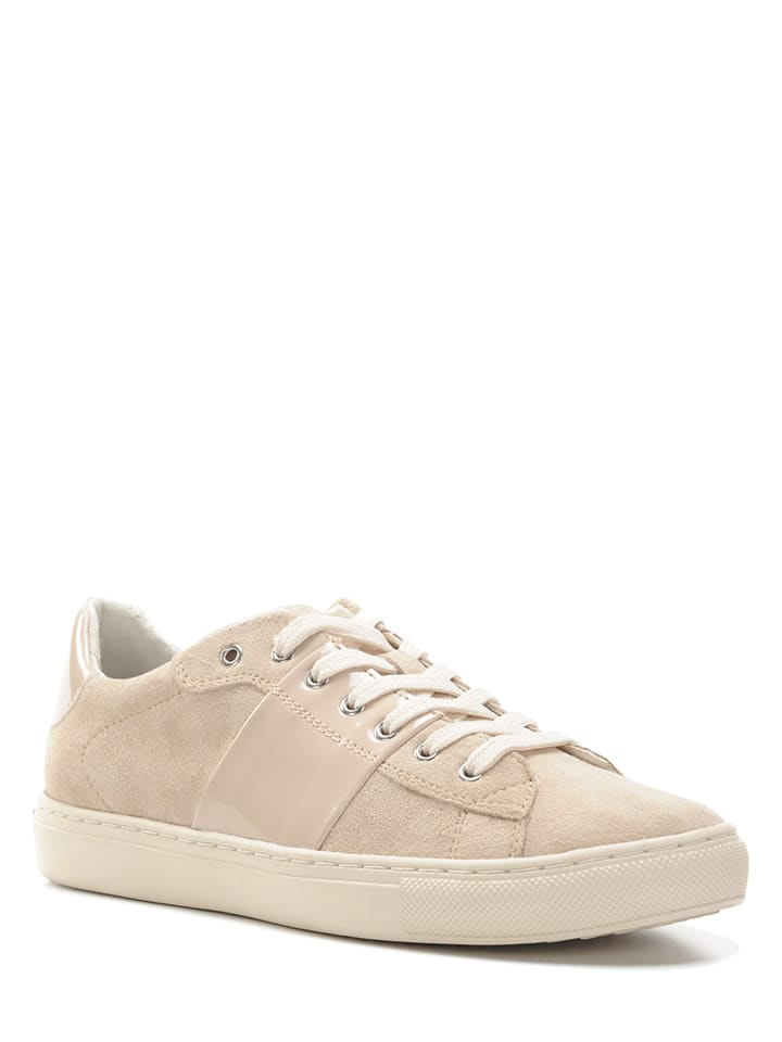 Geox Leder-Sneakers Trysure in Grau - 48% Fzv0KsW