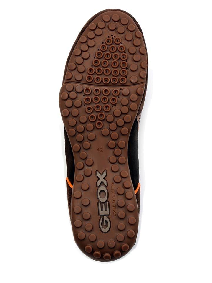 Geox Leder-Sneakers Snake in Braun