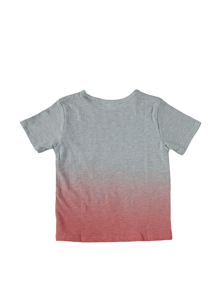 Tom Tailor Shirt in Grau/ Rot
