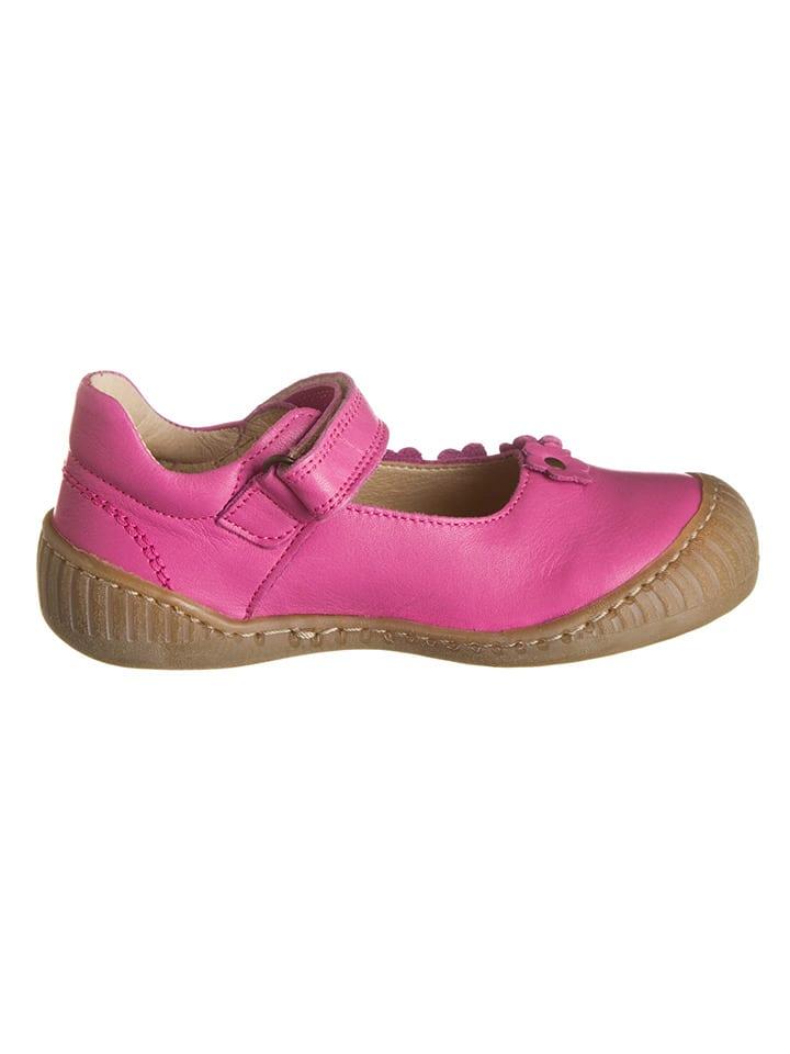 Pom Pom Leder-Spangenballerinas in Pink - 62% i5xwX