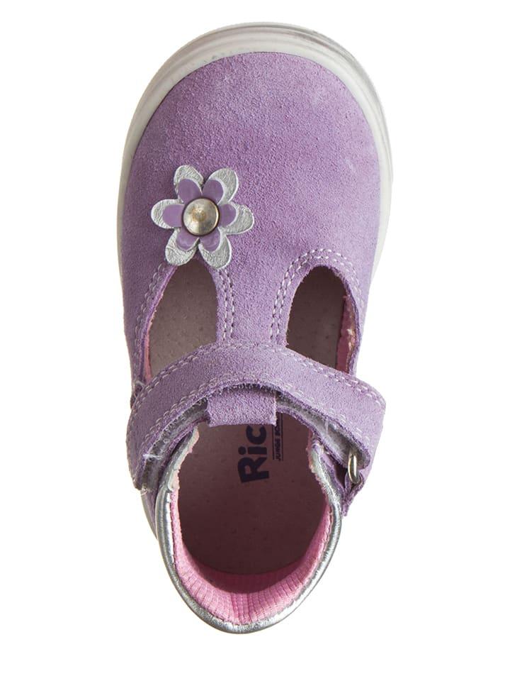 Richter Shoes Leder-Halbsandalen in Flieder