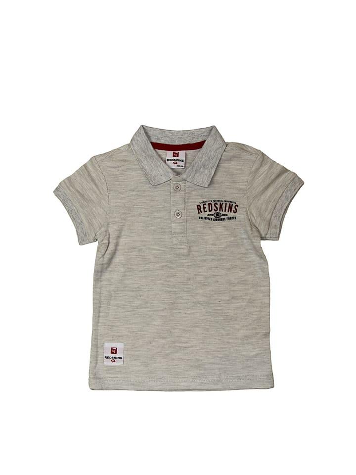 Redskins Junior Poloshirt in Hellgrau