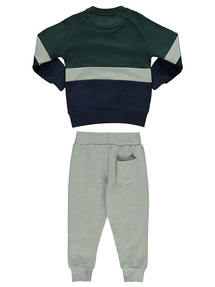 Henry Cotton´s 2tlg. Outfit in Grau/ Dunkelgrün/ Dunkelblau