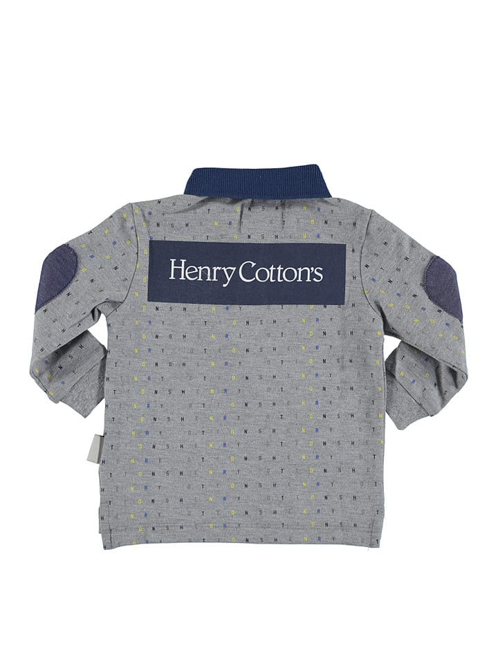 Henry Cotton´s Poloshirt in Grau