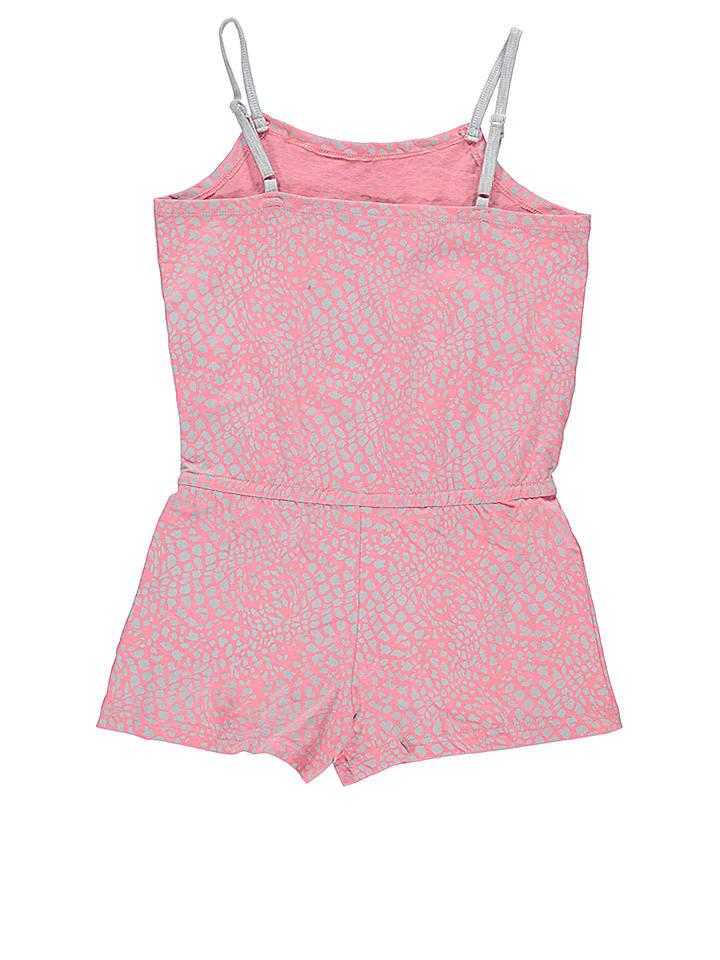 Lilou Secret Overall in Rosa/ Grau
