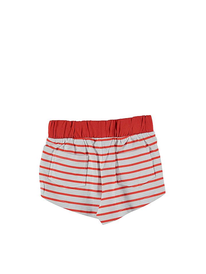 Lilou Secret Shorts in Rot/ Weiß