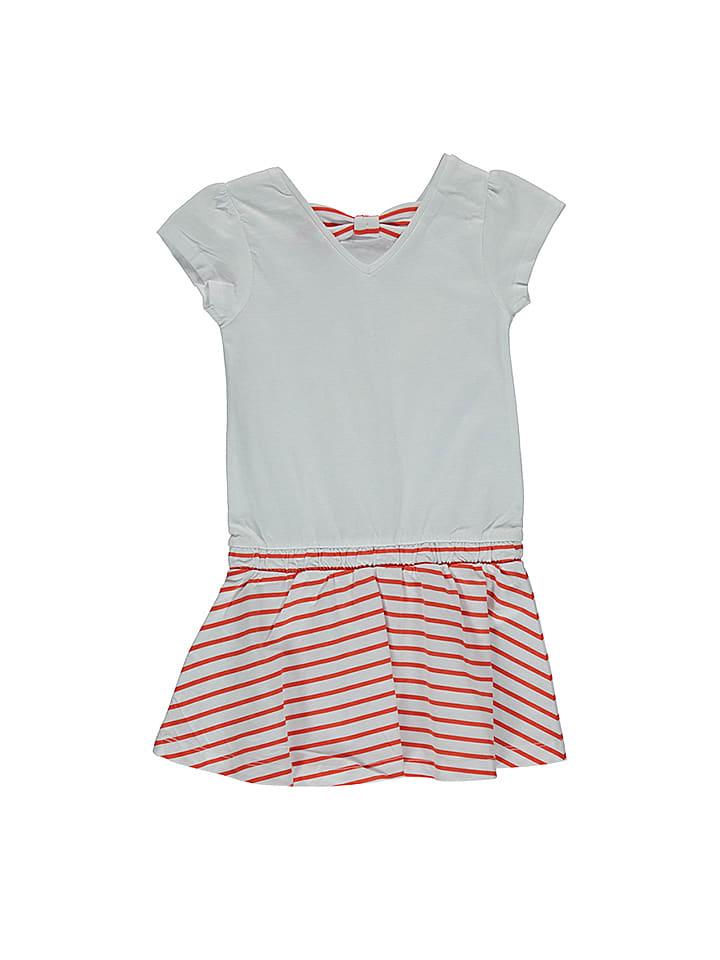 Lilou Secret Kleid in Weiß/ Rot